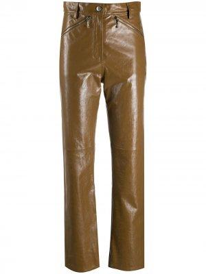 Прямые брюки с завышенной талией Alexa Chung. Цвет: коричневый