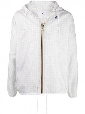Куртка с капюшоном и логотипом 10 CORSO COMO. Цвет: белый