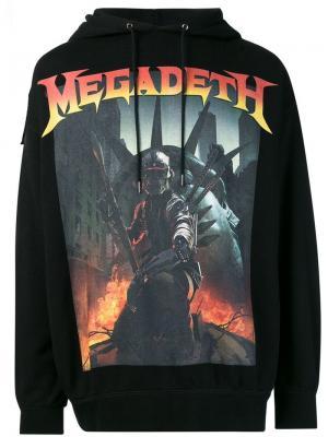 Толстовка с капюшоном Megadeth R13. Цвет: черный