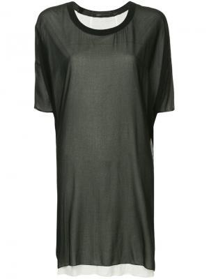 Платье-туника Costume National. Цвет: черный