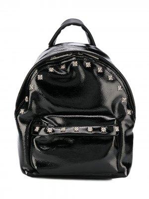 Рюкзак с узором и заклепками John Richmond Junior. Цвет: черный