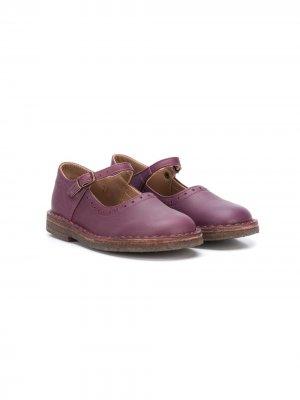 Туфли Мэри Джейн с пряжками Pèpè. Цвет: фиолетовый