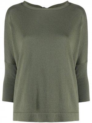 Maryya свитер с манжетами в рубчик Ma'ry'ya. Цвет: зеленый