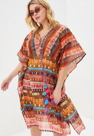 Платье пляжное Venera. Цвет: разноцветный