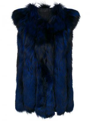 Меховой жилет Liska. Цвет: синий