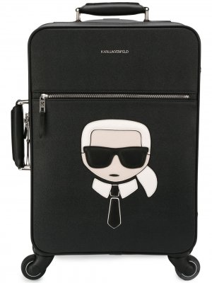 Чемодан Ikonik Weekender Karl Lagerfeld. Цвет: черный