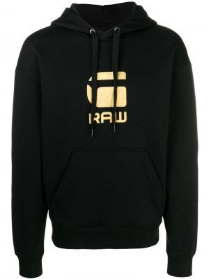 Logo print hoodie G-Star Raw Research. Цвет: черный