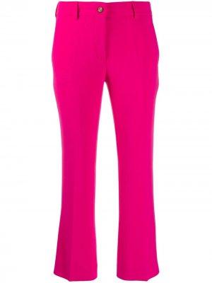 Укороченные расклешенные брюки Alberto Biani. Цвет: розовый