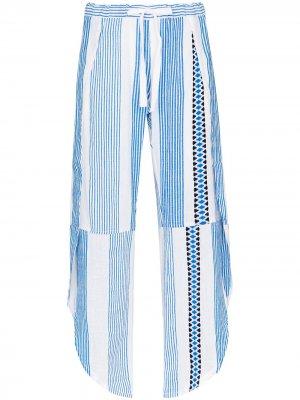 Полосатые брюки Mizan с поясом lemlem. Цвет: синий