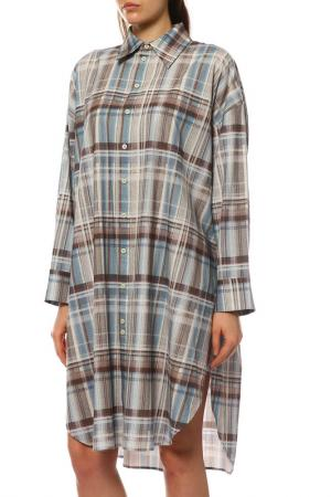 Платье ACNE STUDIOS. Цвет: bluegreen