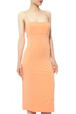 Платье CLIPS MORE. Цвет: бежевый