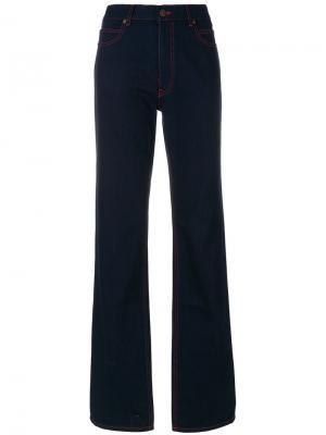 Джинсы клеш с контрастной строчкой Calvin Klein 205W39nyc. Цвет: синий
