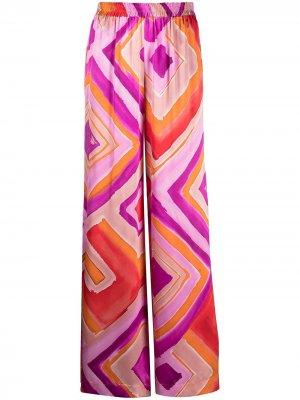 Расклешенные брюки с принтом Gianluca Capannolo. Цвет: оранжевый