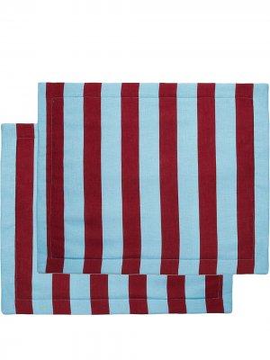 Набор из двух сервировочных салфеток в полоску La Doublej. Цвет: красный