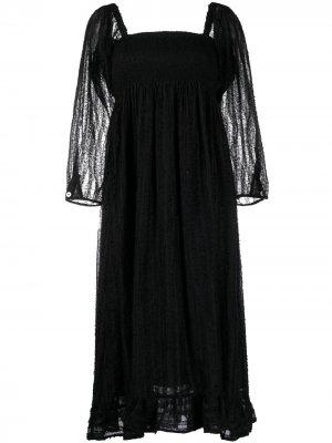 Фактурное платье с квадратным вырезом Baum Und Pferdgarten. Цвет: черный