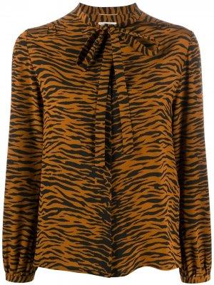 Блузка с принтом Saint Laurent. Цвет: коричневый