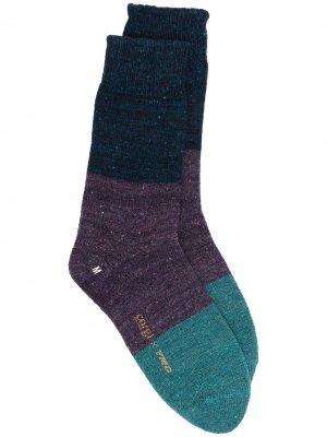 Носки в полоску YMC. Цвет: синий