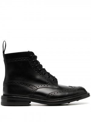 Trickers ботинки с брогированием Tricker's. Цвет: черный