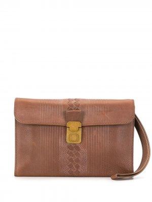Клатч с плетением Bottega Veneta Pre-Owned. Цвет: коричневый