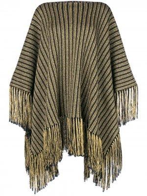 Трикотажное платье-пончо Saint Laurent. Цвет: черный