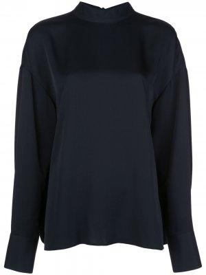 Блузка с длинными рукавами и завязками Jason Wu. Цвет: черный