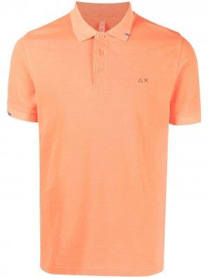 Рубашка поло с вышитым логотипом Sun 68. Цвет: оранжевый