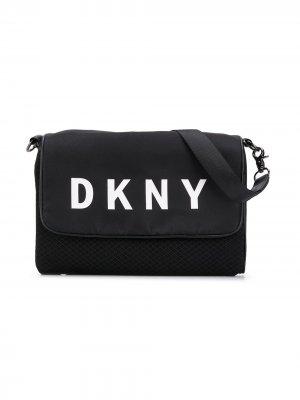 Сумка на плечо с логотипом Dkny Kids. Цвет: черный