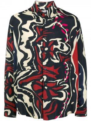 Рубашка Psychedelic Flower с длинными рукавами Our Legacy. Цвет: синий