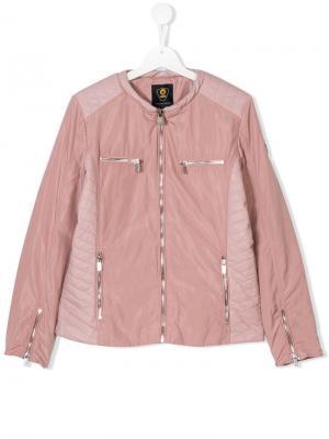 Приталенная куртка на молнии Ciesse Piumini Junior. Цвет: розовый