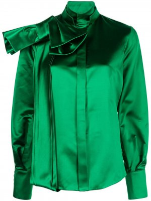 Рубашка с бантом Dice Kayek. Цвет: зеленый