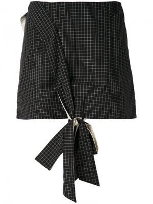 Мини-юбка с декоративным узлом спереди Anna K. Цвет: чёрный