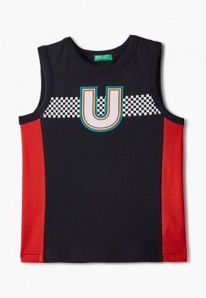 Майка United Colors of Benetton. Цвет: черный