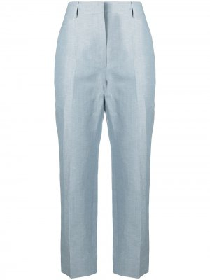 Укороченные брюки прямого кроя LANVIN. Цвет: синий