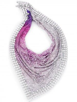 Декорированный платок Paco Rabanne. Цвет: фиолетовый