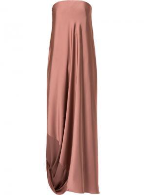 Каскадное вечернее платье Bianca Spender. Цвет: розовый
