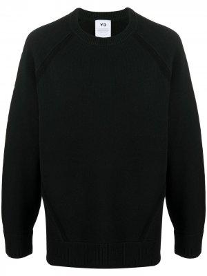 Однотонный джемпер с длинными рукавами Y-3. Цвет: черный
