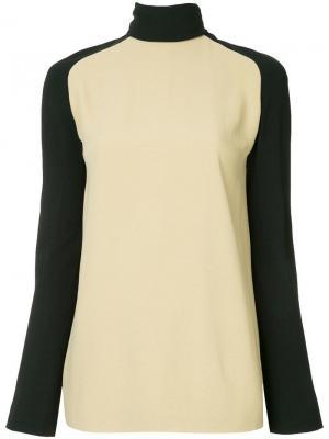 Turtleneck bicolour blouse Haider Ackermann. Цвет: нейтральные цвета