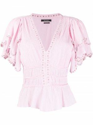 Блузка с люверсами Isabel Marant. Цвет: розовый
