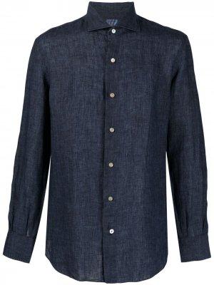 Рубашка с длинными рукавами Mazzarelli. Цвет: синий