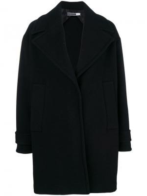 Пальто фасона кокон Sport Max Code. Цвет: черный
