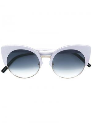 Солнцезащитные очки кошачий глаз Matthew Williamson. Цвет: grey