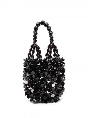 Декорированная мини-сумка Simone Rocha. Цвет: черный