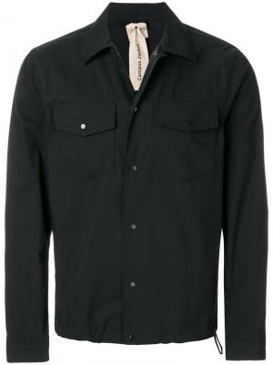 Рубашка с застежкой на заклепках Ten C. Цвет: черный