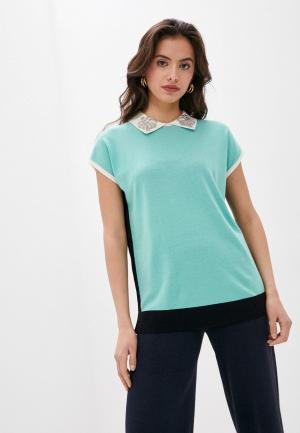 Блуза Laurel. Цвет: бирюзовый