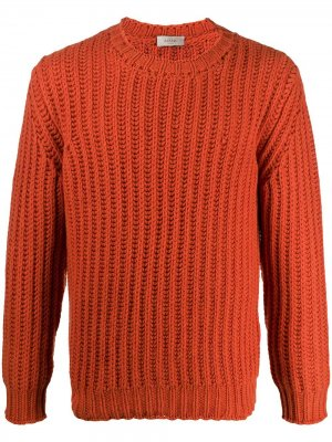 Джемпер в рубчик Altea. Цвет: оранжевый