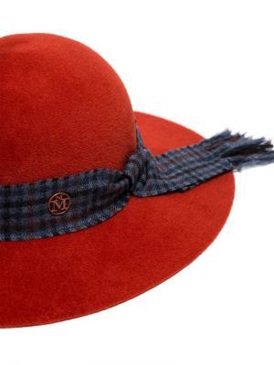 Шляпа с повязкой Maison Michel. Цвет: оранжевый