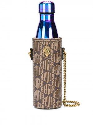 Чехол для бутылки воды  Quench с логотипом Kurt Geiger London. Цвет: коричневый