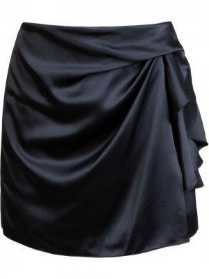 Юбка мини с складками Michelle Mason. Цвет: синий
