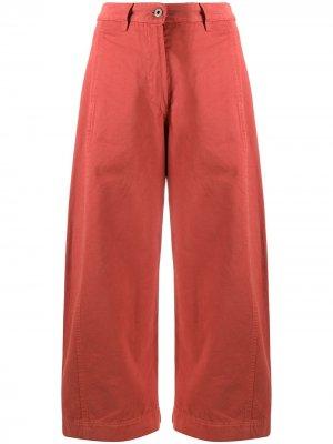 Укороченные брюки из органического хлопка HENRIK VIBSKOV. Цвет: красный