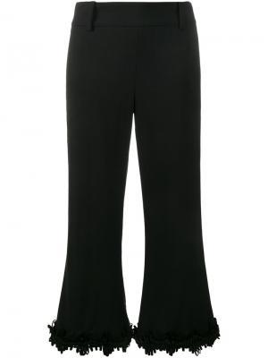 Расклешенные брюки с бахромой Creatures Of The Wind. Цвет: черный